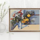 Still Life Cross Stitch Chart by Paul Cezanne (MINI)