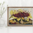 A Dish of Cherries and Carnation Cross Stitch Chart by Giovanna Garzoni
