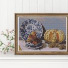 Still Life with Melon and Grapes Cross Stitch Chart by Claude Monet