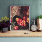 Still Life of Apples in a Hat Cross Stitch Chart by Levi Wells Prentice