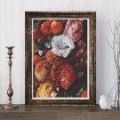 Festoon of Fruit and Flowers Cross Stitch Kit by Jan Davidsz. de Heem