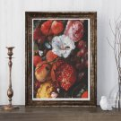Festoon of Fruit and Flowers Cross Stitch Chart by Jan Davidsz. de Heem