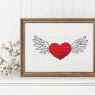 Valentine Series: Winged Heart Cross Stitch Chart