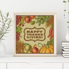 Happy Thanksgiving Cross Stitch Chart