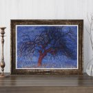 Evening Red Tree Cross Stitch Kit by Piet Mondrian