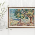 The House with Linden Tree Cross Stitch Kit by Nicolae Darascu