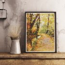 Winding Brook Cross Stitch Kit by Egon Schiele