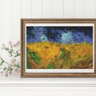 Wheatfield with Crows Cross Stitch Kit by Vincent Van Gogh
