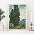 Cypresses Cross Stitch Kit by Vincent Van Gogh