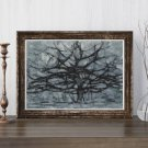 The Gray Tree Cross Stitch Kit by Piet Mondrian