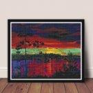 At Sunset Cross Stitch Chart by Arkady Alexandrovich Rylov