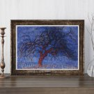 Evening Red Tree Cross Stitch Chart by Piet Mondrian