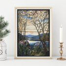 Magnolia and Irises Cross Stitch Chart by Louis Comfort Tiffany