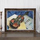 A Still Life With Violin Cross Stitch Kit by Kuzma Petrov Vodkin