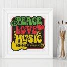 Peace, Love and Music Cross Stitch Kit