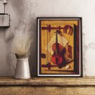 Still Life of Violin and Music Cross Stitch Chart by William Michael Hartnett