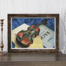 A Still Life With Violin Cross Stitch Chart by Kuzma Petrov Vodkin
