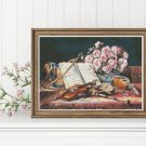 Musical Still Life Cross Stitch Chart by Charles Antoine Loyeux