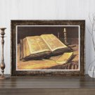 Still Life with Bible Cross Stitch Kit by Vincent Van Gogh
