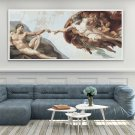 The Creation of Adam Cross Stitch Chart by Michelangelo