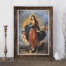Immaculate Conception Cross Stitch Chart by Peter Paul Rubens