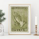 Praying Hands First Issue Stamp Cross Stitch Chart by Albrecht Durer
