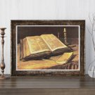 Still Life with Bible Cross Stitch Chart by Vincent Van Gogh