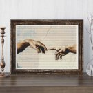Hands of God and Adam Cross Stitch Chart by Michelangelo