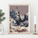 Winter in the Rockies Cross Stitch Chart by Thomas Moran