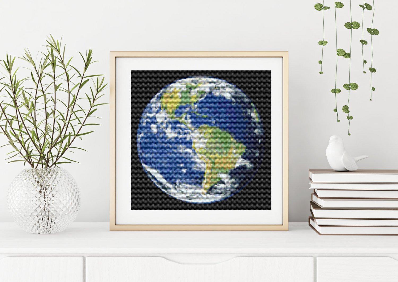 Planetary Series: Earth Cross Stitch Kit