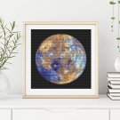 Planetary Series: Mercury Cross Stitch Kit