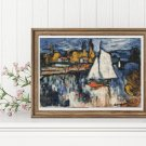 View of the Seine Cross Stitch Kit by Maurice de Vlaminck