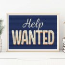 Help Wanted Cross Stitch Chart