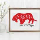 Chinese Zodiac: Year of the Tiger Cross Stitch Kit