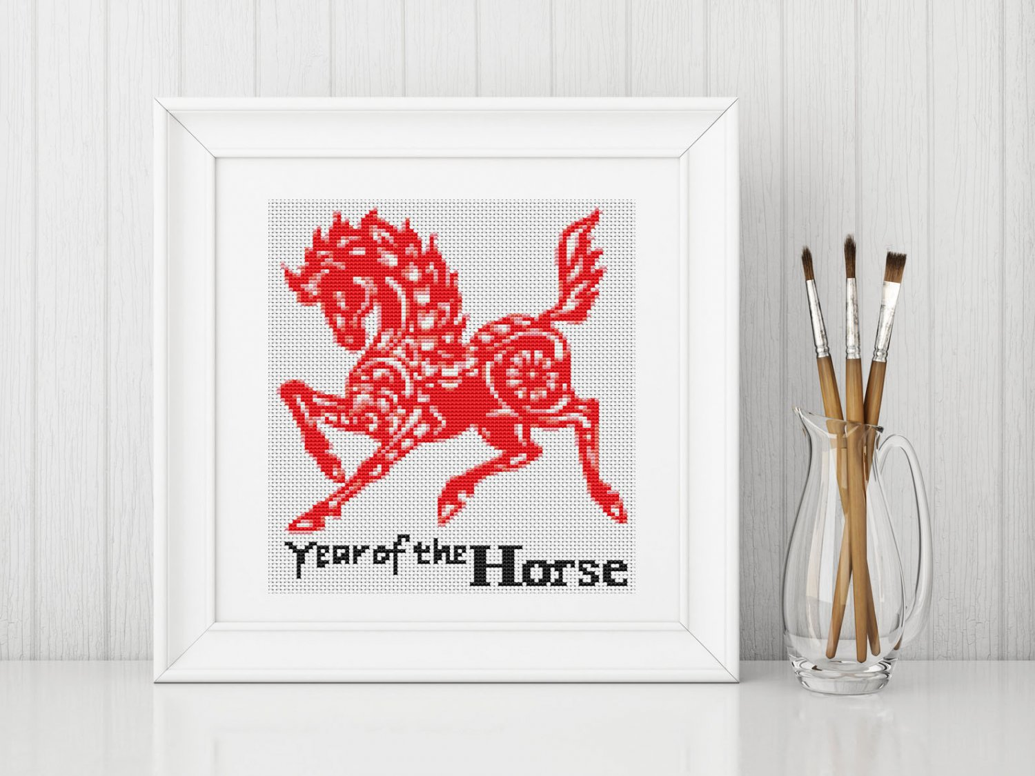 Chinese Zodiac: Year of the Horse Cross Stitch Chart