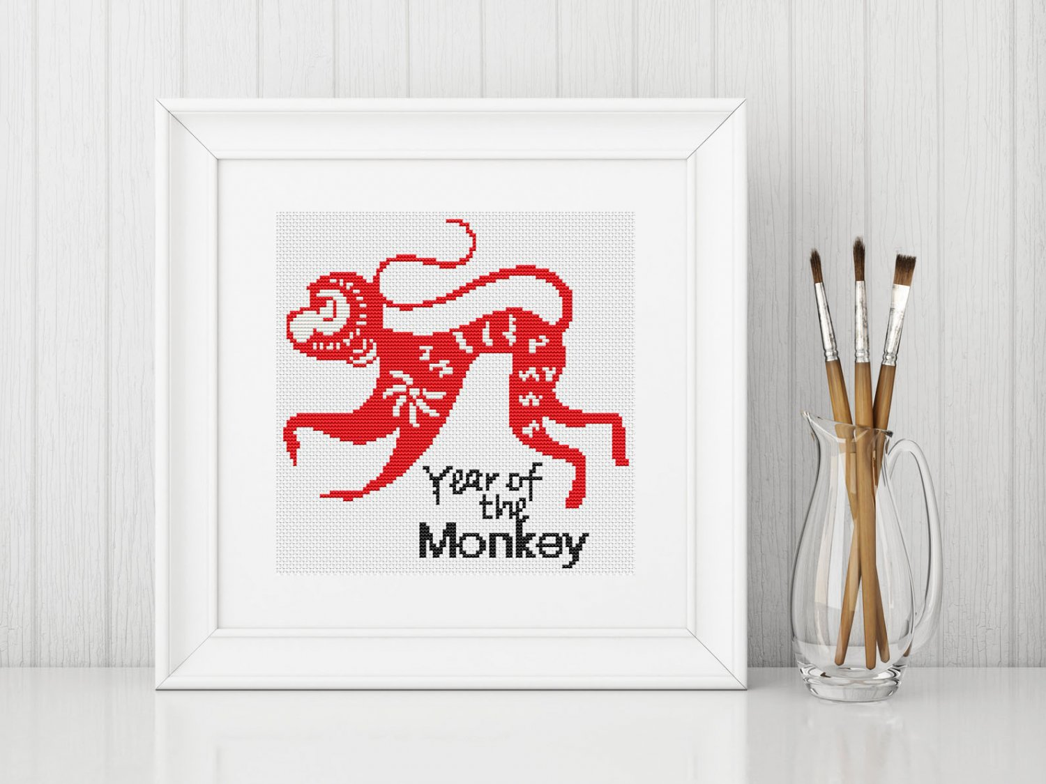 Chinese Zodiac: Year of the Monkey Cross Stitch Chart