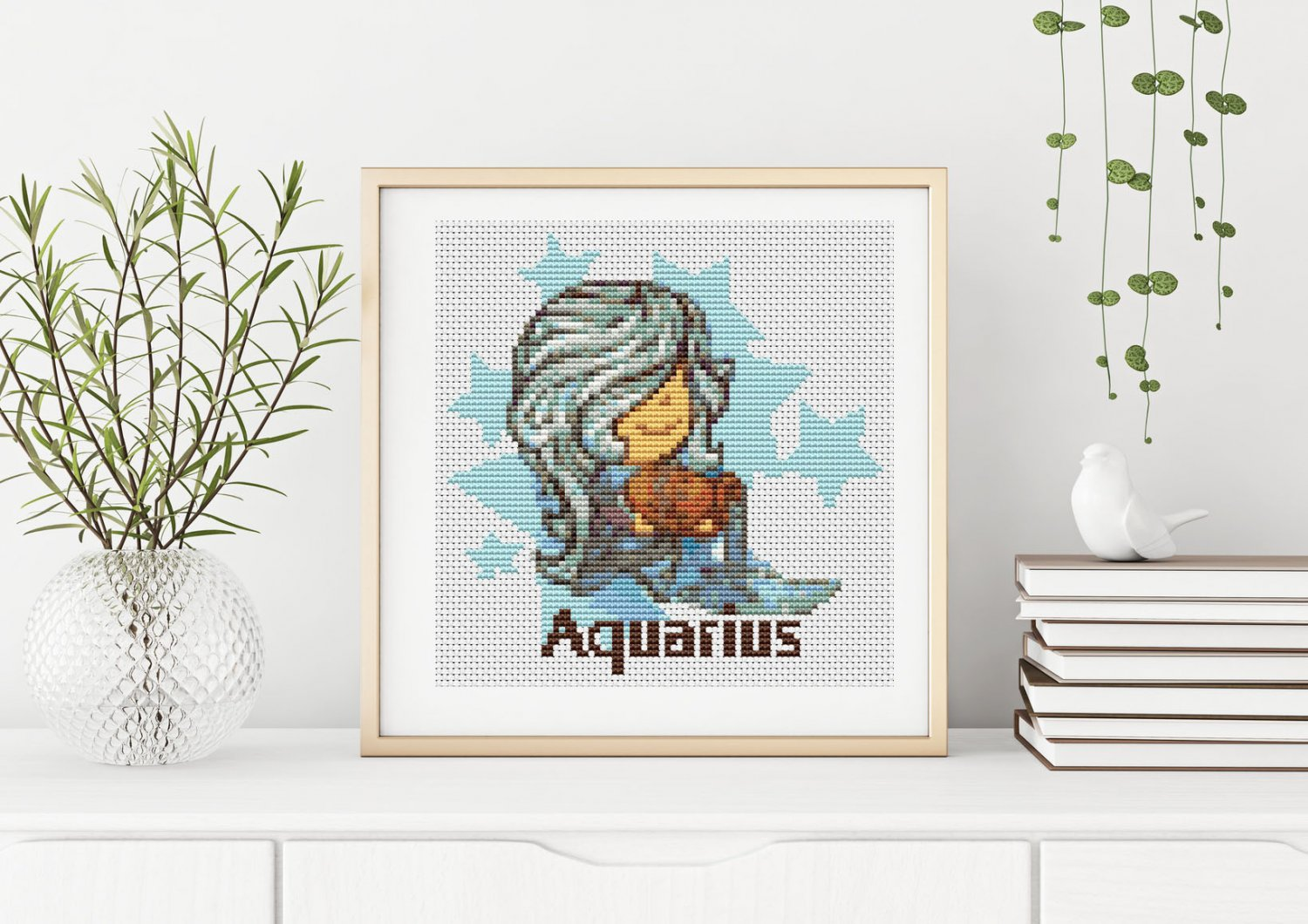 Aquarius Cross Stitch Chart