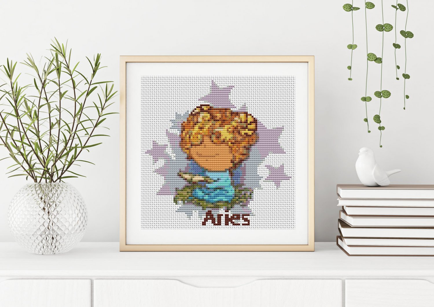 Aries Cross Stitch Chart