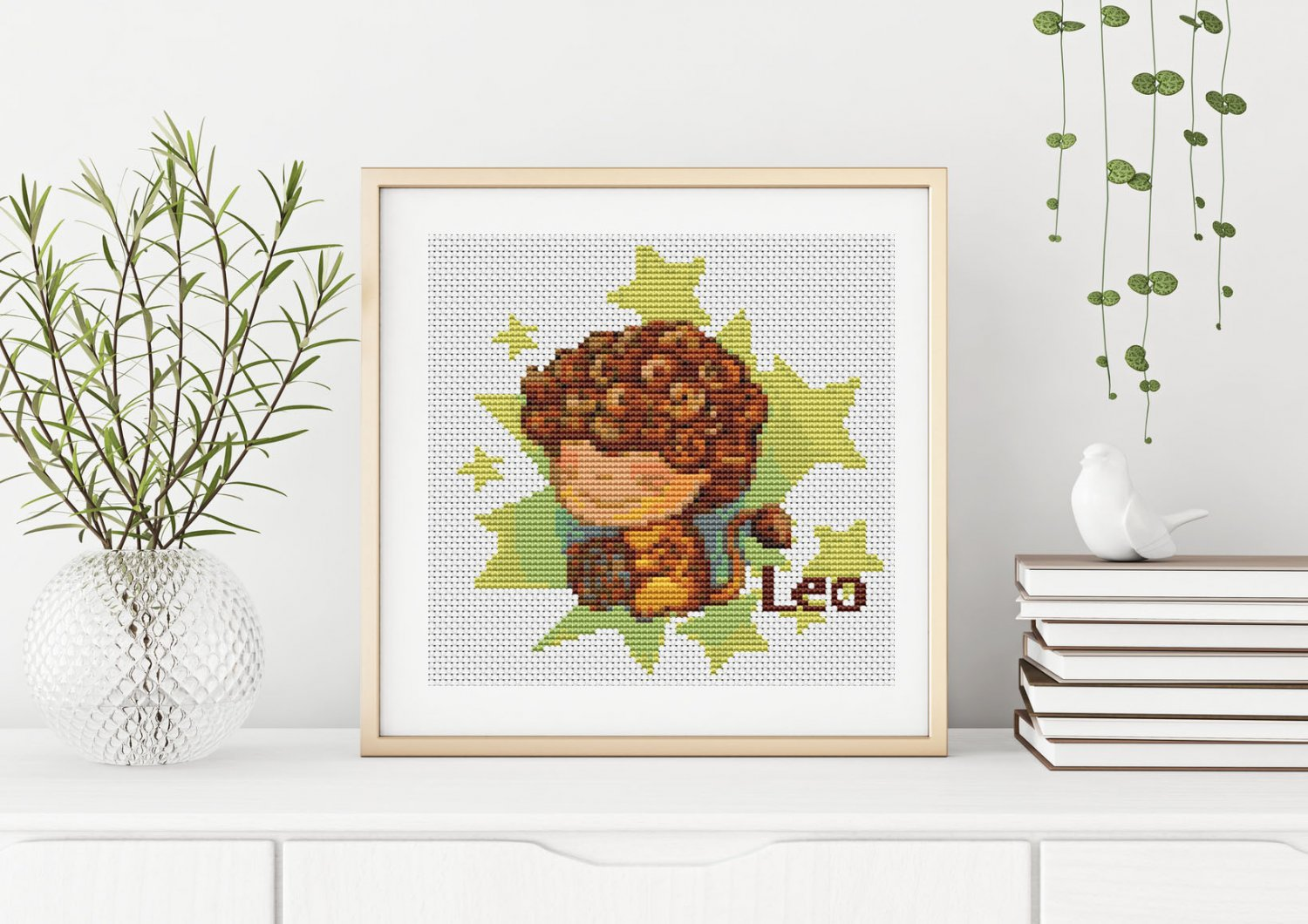 Leo Cross Stitch Chart