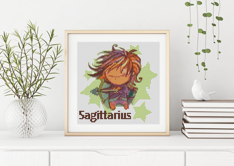 Sagittarius Cross Stitch Chart