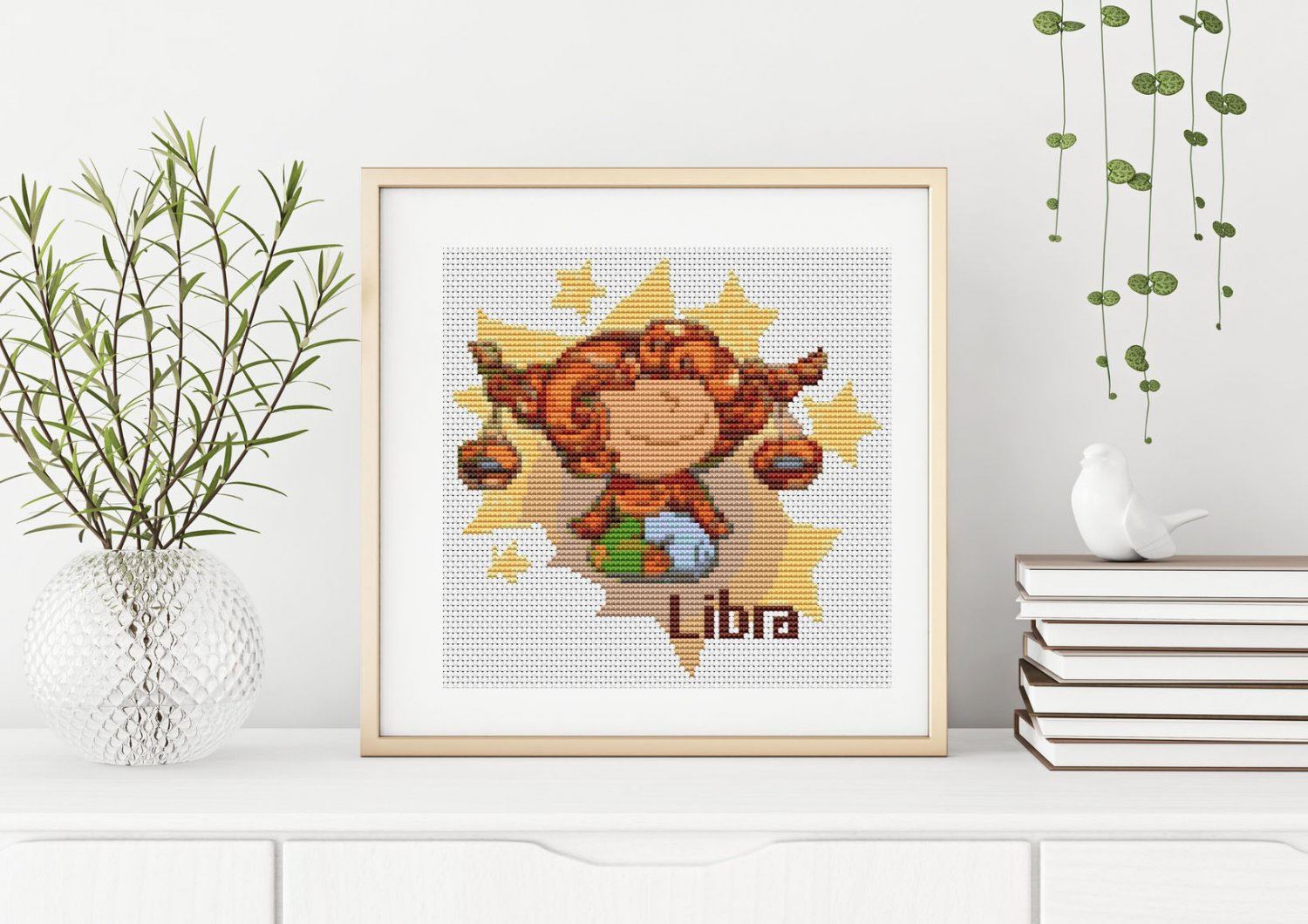 Libra Cross Stitch Chart