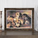 French Hounds Cross Stitch KIT by Benno Raffael Adams (MINI)