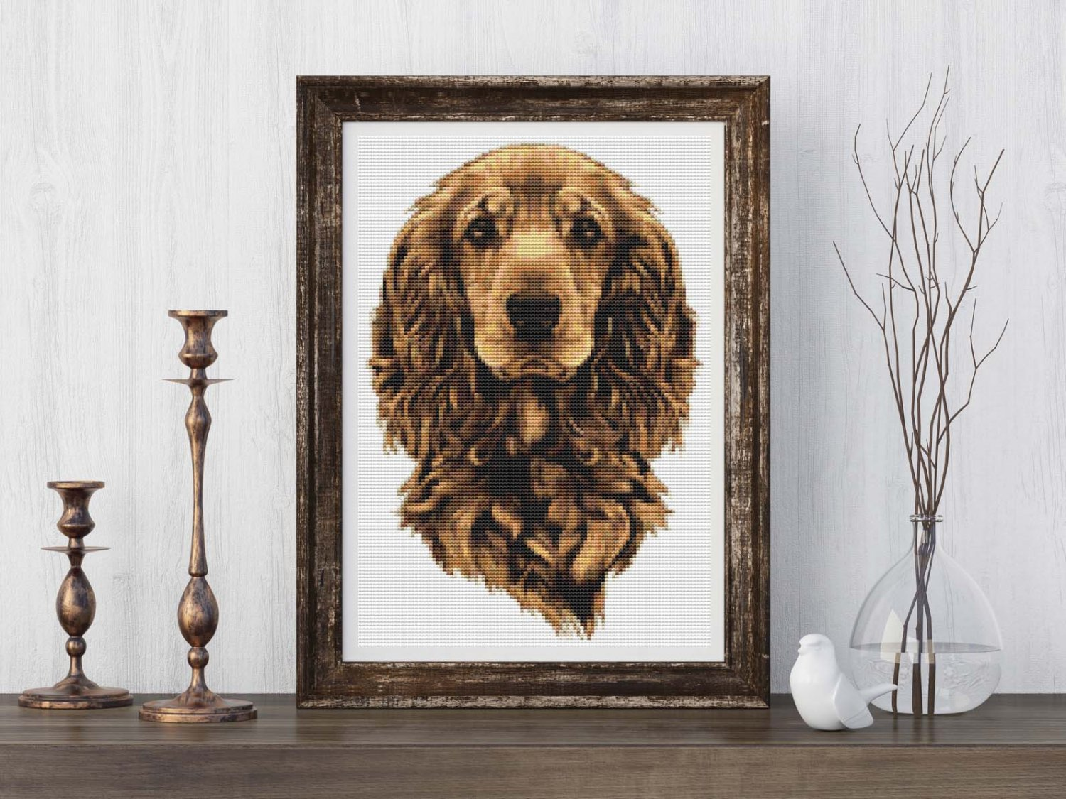 Portrait of a Dog Cross Stitch Chart