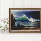The Shore of the Turquoise Sea Cross Stitch Kit by Albert Bierstadt
