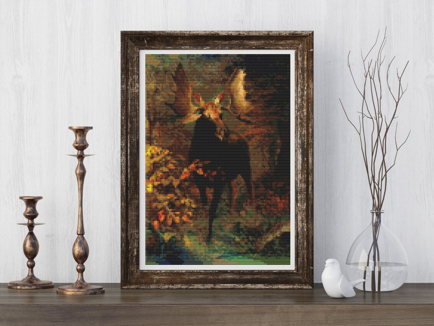 In the Forest Cross Stitch Chart by Albert Bierstadt