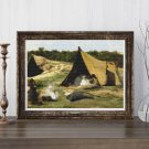 Indian Camp Cross Stitch Chart by Albert Bierstadt