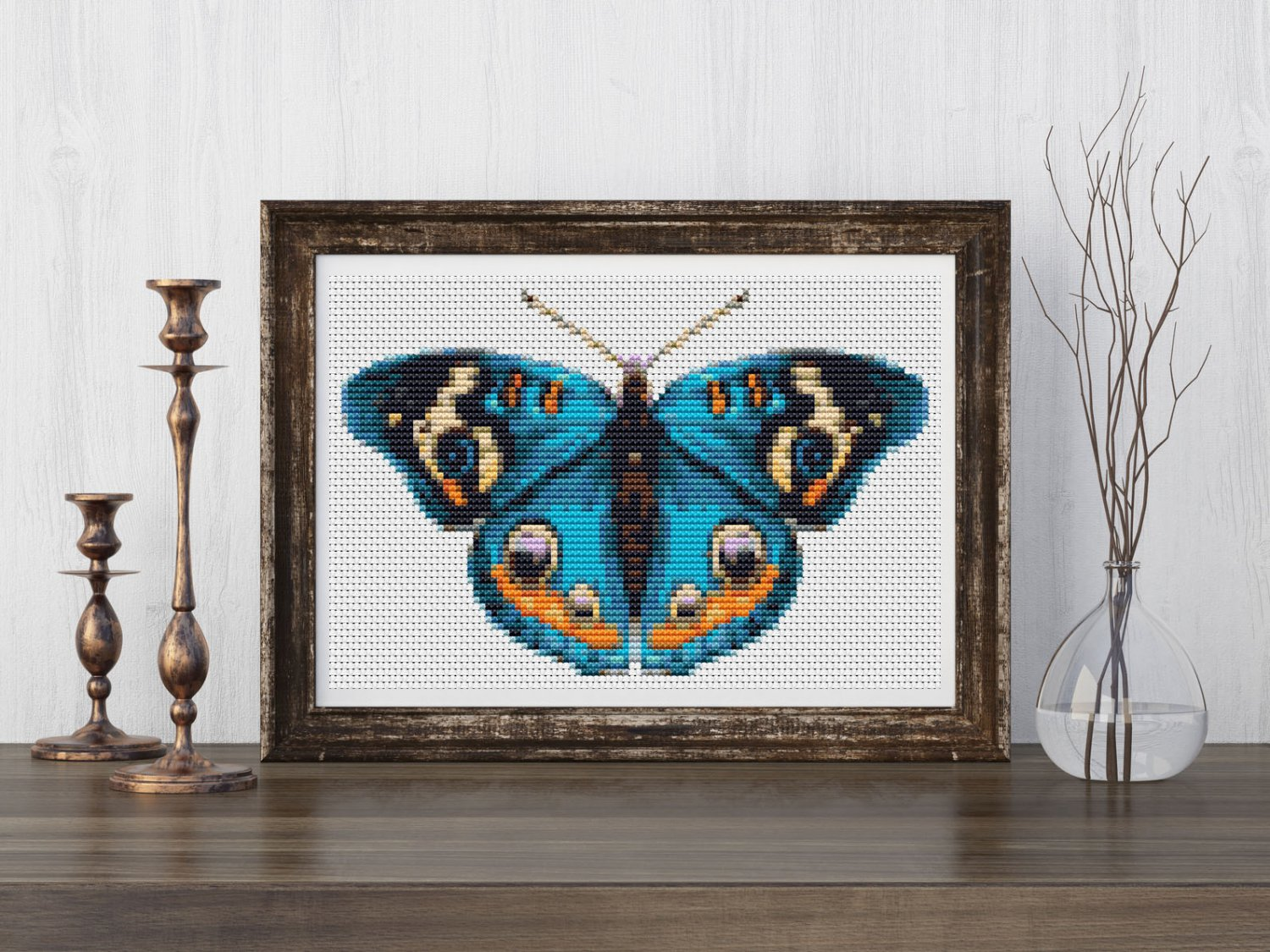 The Blue Butterfly Cross Stitch Chart