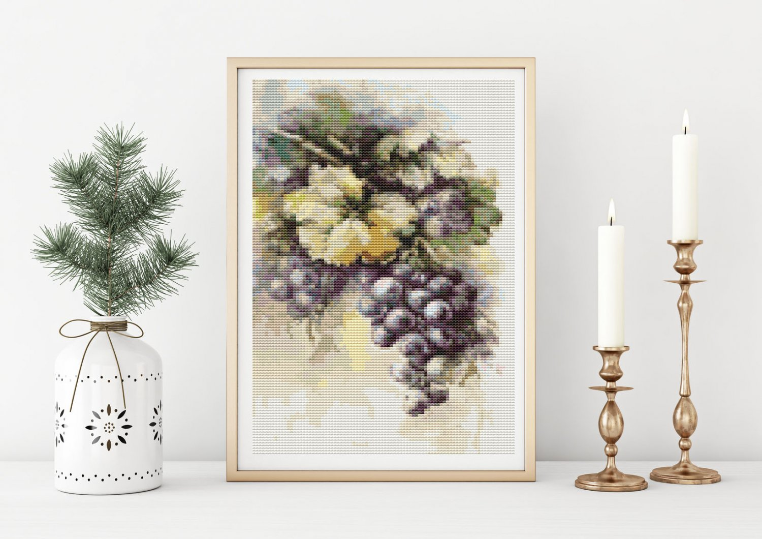 Grapes Cross Stitch Chart by Catherine Klein