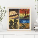 Four Squares featuring Vincent Van Gogh Cross Stitch Chart (FOUR04)