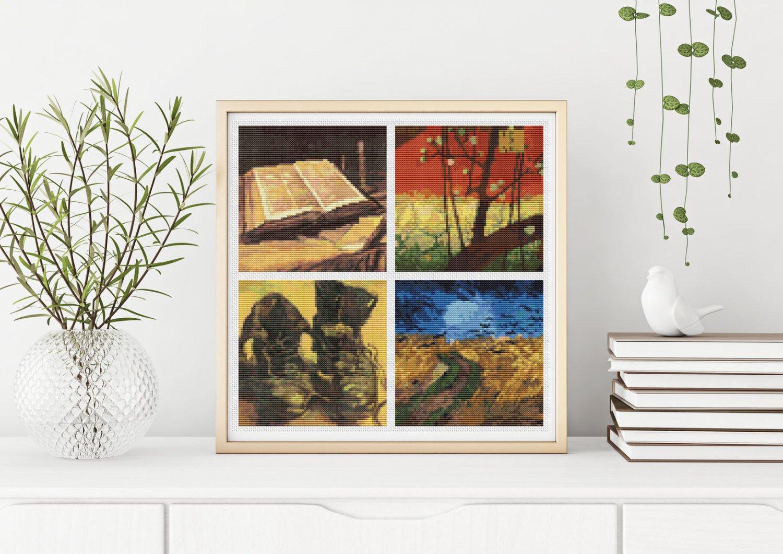 Four Squares featuring Vincent Van Gogh Cross Stitch Kit (FOUR04)
